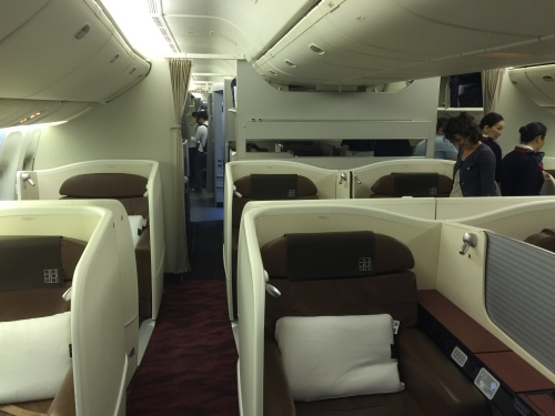 JAL - Japan Airlines - B77W - First Class Cabin