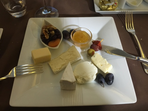 Japan Airlines First Class - Cheese Selection