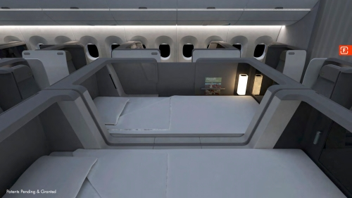 The formation design lie-flat cabin concept - First Class seat [foto by: www.formationdesign.com]